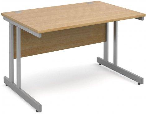 DSK Momento 1200mm Straight Desk with Cantilever Leg - Light Oak