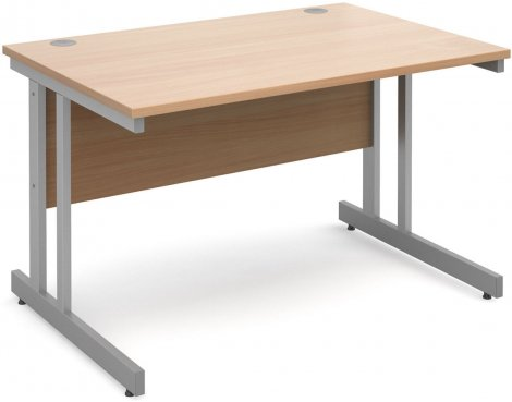DSK Momento 1200mm Straight Desk with Cantilever Leg - Beech