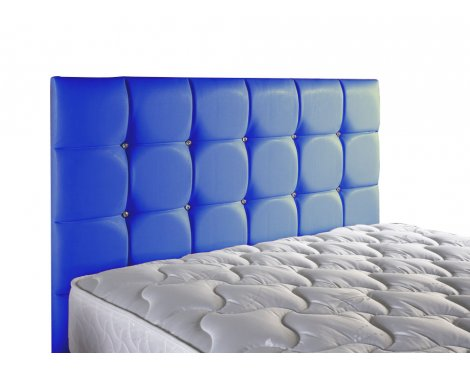 ValuFurniture Diamond Leather Headboard - Blue - Super King 6ft