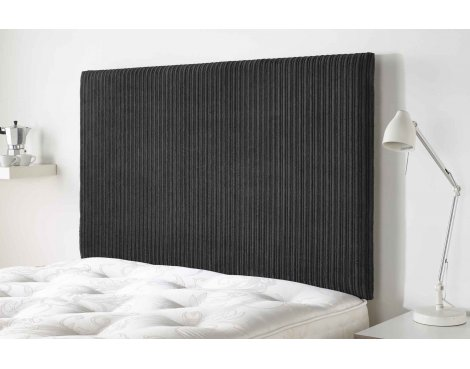 Aspire Furniture Lightmoor Headboard in Loumaire Corded Fabric - Black - Double 4ft6