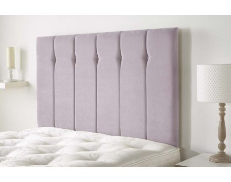 Aspire Furniture Portmoor Headboard in Katsuro Linen Fabric - Lilac - King 5ft