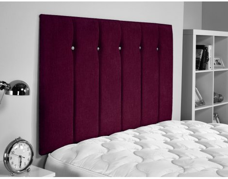 ValuFurniture Jubilee Chenille Fabric Headboard - Aubergine - Small Double 4ft
