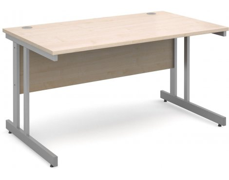 DSK Momento 1400mm Straight Desk - Maple