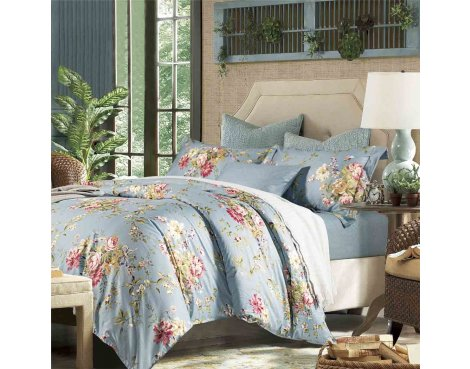 Primaviera Deluxe SL 43 Joyce Duvet Cover Set - Blue - King 5ft