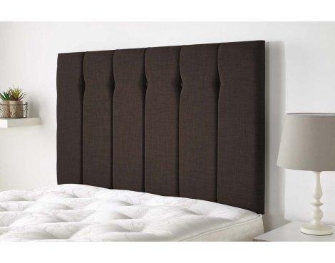 Aspire Furniture Amberley Headboard in Malham Weave Fabric - Brown - Super King 6ft