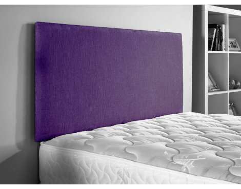ValuFurniture Doll Chenille Fabric Headboard - Purple - Small Double 4ft