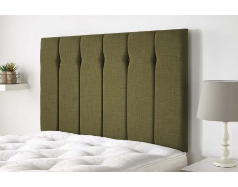 Aspire Furniture Amberley Headboard in Malham Weave Fabric - Olive - Small Double 4ft