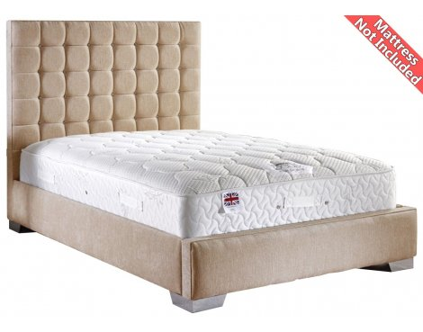 ValuFurniture Coppella Chenille Fabric  Divan Bed Frame - Mink - King Size - 5ft