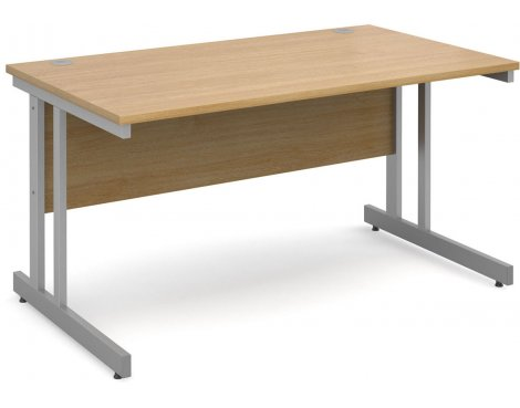 DSK Momento 1400mm Straight Desk - Light Oak