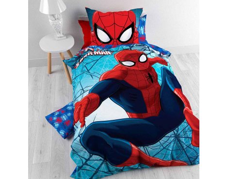 Disney Spider Man 2 Duvet Cover Set For Kids - Multicoloured - Single 3ft