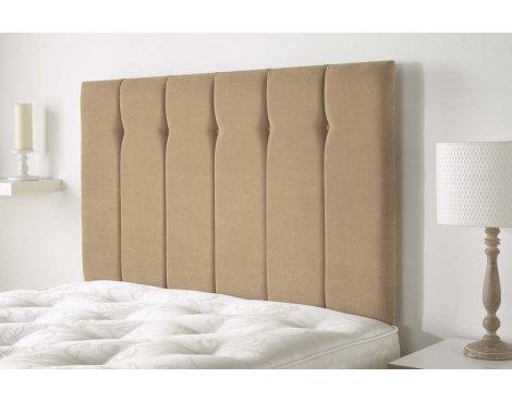 Aspire Furniture Portmoor Headboard in Katsuro Linen Fabric - Camel - Small Double 4ft