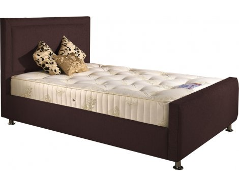 ValuFurniture Calverton Divan Bed & Mattress Set - Chocolate Chenille Fabric - Double - 4ft 6