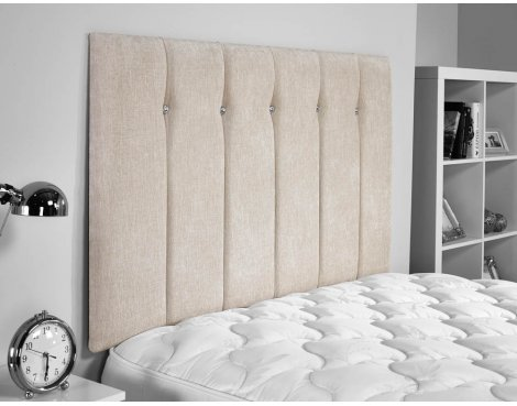 ValuFurniture Jubilee Chenille Fabric Headboard - Cream - Super King 6ft