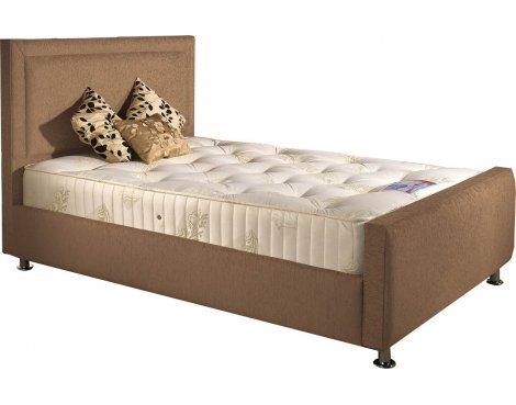 ValuFurniture Calverton Divan Bed & Mattress Set - Mink Chenille Fabric - Small Single - 2ft 6