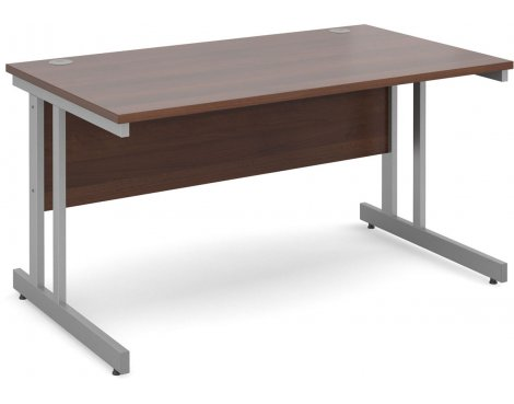 DSK Momento 1400mm Straight Desk - Walnut