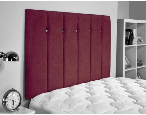 ValuFurniture Jubilee Chenille Fabric Headboard - Raspberry - Super King 6ft