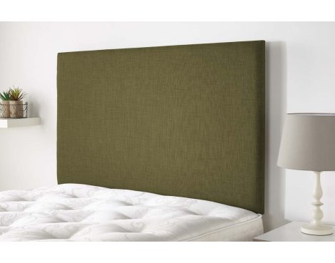 Aspire Furniture Derwent Headboard in Malham Weave Fabric - Olive - Double 4ft6