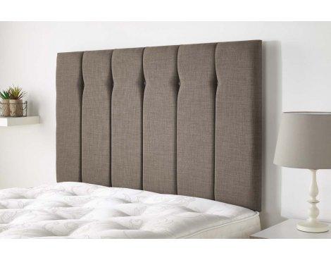 Aspire Furniture Amberley Headboard in Malham Weave Fabric - Mink - Super King 6ft