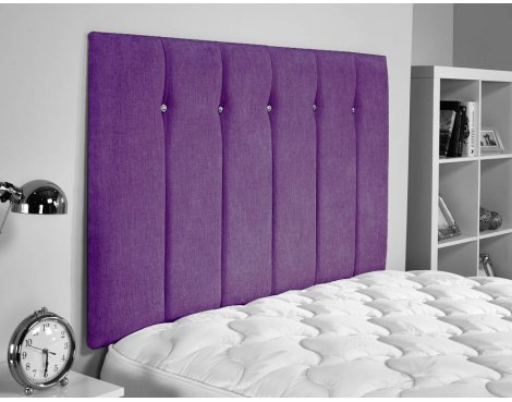 ValuFurniture Jubilee Chenille Fabric Headboard - Purple - Small Double 4ft