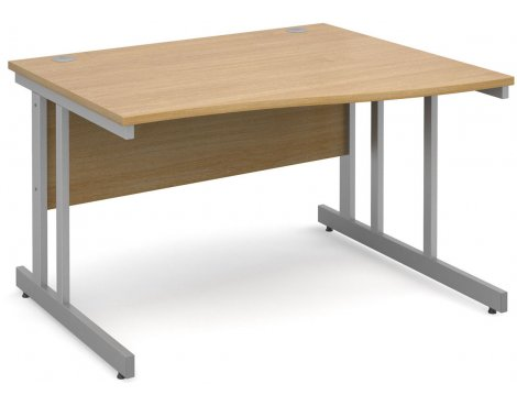 DSK Momento 1200mm Right Hand Wave Desk - Light Oak