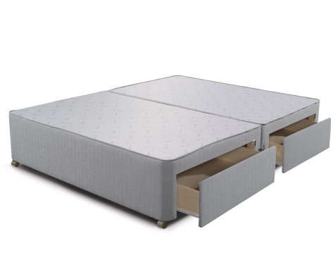 Sleepeezee Divan Base - 4 Drawer - Slate - King 5ft