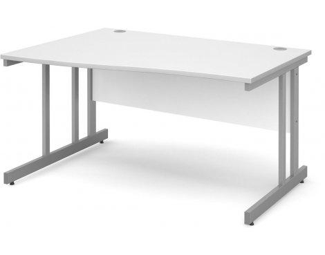 DSK Momento 1400mm Left Hand Wave Desk - White