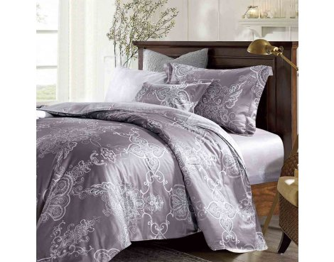Primaviera Deluxe SL 53 Ashley Duvet Cover Set - Grey - Double 4ft6