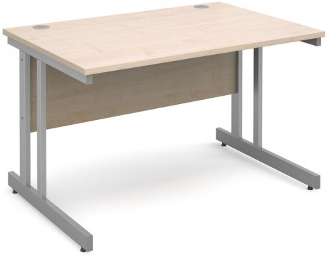 DSK Momento 1200mm Straight Desk with Cantilever Leg - Maple
