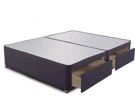 Sleepeezee Divan Base - 4 Drawer - Charcoal - Double 4ft6