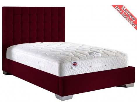 ValuFurniture Coppella Chenille Fabric  Divan Bed Frame - Aubergine - Super King - 6ft