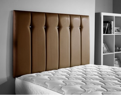 ValuFurniture Jubilee Leather Headboard - Brown - Small Double 4ft