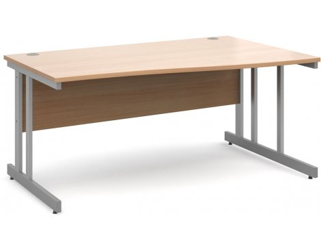 DSK Momento 1600mm Right Hand Wave Desk - Beech
