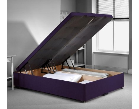 Richworth Ottoman Divan Bed Frame - Purple Chenille Fabric - Double - 4ft6