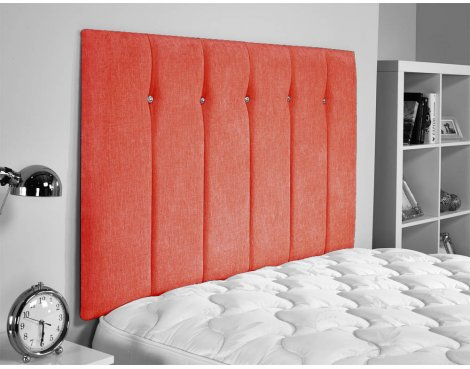 ValuFurniture Jubilee Chenille Fabric Headboard - Red - Small Double 4ft