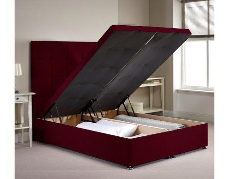 Appian Ottoman Divan Bed Frame - Aubergine Chenille Fabric - Super King - 6ft 0