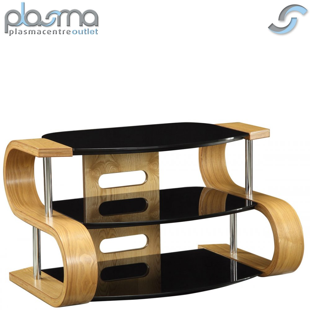 Image Is Loading Jual Curve Curved Oak And Glass TV Stand  Great Pictures