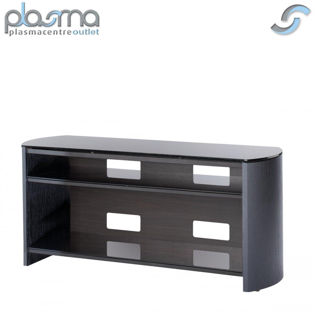 black oak veneer tv stand for screens up to 50 ebay. Black Bedroom Furniture Sets. Home Design Ideas
