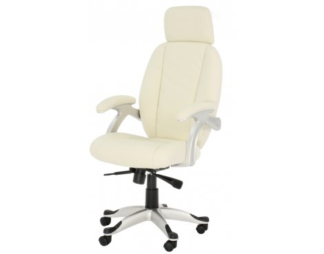 Alphason Bentley Cream Leather Executive Chair