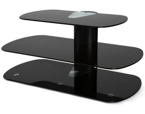 Off The Wall Flat Panel TV Stand In Black