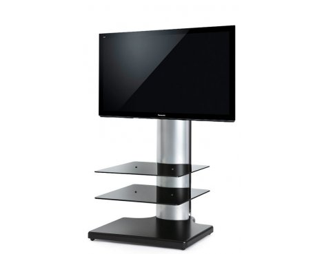 Origin II S2 Flat Panel TV Stand In Black & Silver