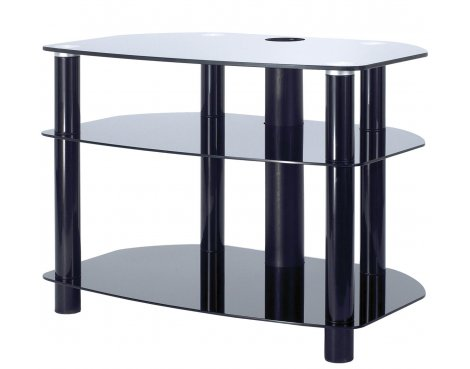 """Alphason Black Glass TV Stand for up to 32\"""" TVs"""