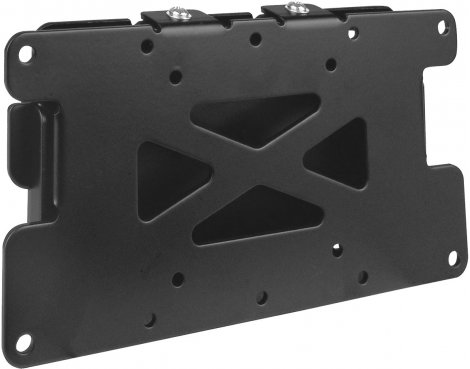 "UM108 Black Flat Fixed LCD Wall Mount Plate 10"" - 30\"" TV\'s"