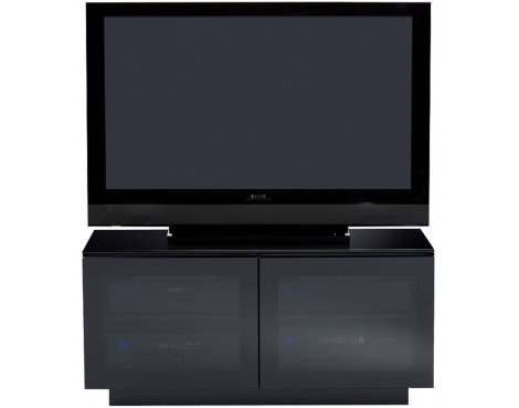 BDI MIRAGE 8224 TV cabinet in black for TVs up to 42""