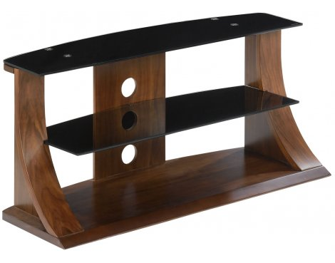 "B GRADE/Box slightly damaged Jual Curve - Curved Walnut and Black TV Stand for up to 37"" TVs"