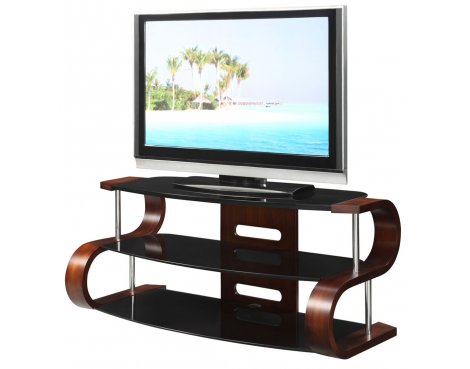 "Jual Curve - Curved Walnut / Black 50"" TV Stand"