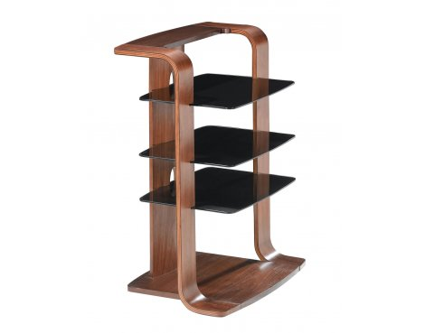 Jual Florence Curved Walnut and Black Hi-Fi Stand