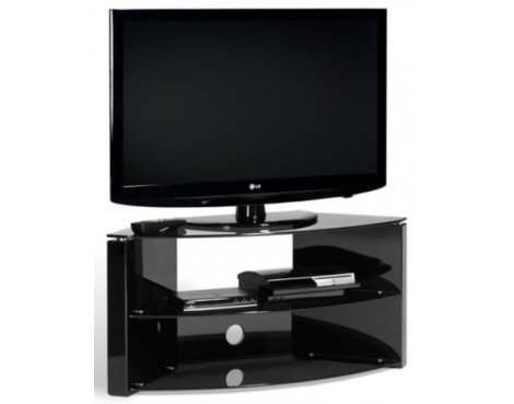 Techlink Bench Piano Black Corner TV Stand