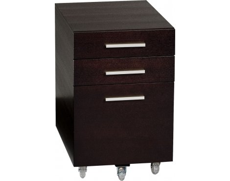 Sequel Low Mobile File Pedestal in Espresso Stained Oak