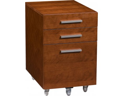 Sequel Mobile File Pedestal in Natural Stained Cherry