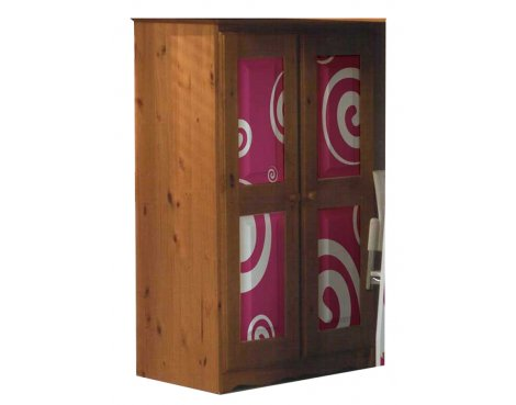 Girls Pine Tallboy with Funky Pink Design